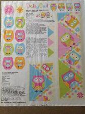 Print fabric(Growth chart-daisy owl)