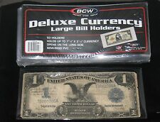 "Large Currency Holders - SEMI-RIGID 7-7/8"" x 3-1/2""  (package of 50)"