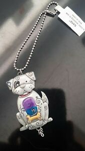 Ganz Car Rear View Mirror Or Anywhere Color Art Charm Dog ER36679