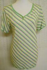 Gestreifte taillenlange Kurzarm Damen-Shirts