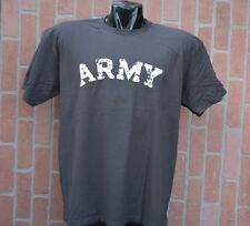 ARMY VINTAGE DESTROYED LETTERS CHARCOAL XL