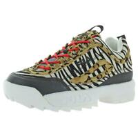 Fila Womens Disruptor II Animal B/W Sneakers Shoes 9.5 Medium (B,M) BHFO 4389