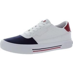 Tommy Hilfiger Mens Ezan Faux Leather Lifestyle Fashion Sneakers Shoes BHFO 6511