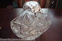 Vintage American Brilliant FLOWER ERA  basket, cut crystal, gorgeous [GL-6]