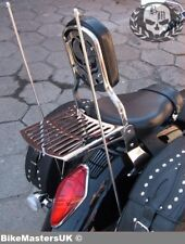 HONDA VTX 1300 VTX1800 RETRO SISSY BAR PASSENGER BACKREST + RACK - SKULL MOTIVE