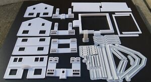 """HO Scale """"The Puritan"""" Home 3D Printed Structure Kit, Super Detailed, In Stock!"""