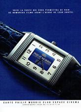 Publicité Advertising 038  1992   Club Espace cinéma  Philip Morris