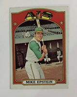 1972 Topps Mike Epstein # 715 Baseball Card Oakland Athletics A's