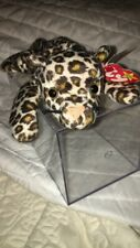 """TY Beanie Babies FRECKLES Leopard Stuffed Animal Beanbag Baby Mint With Tags 8"""""""