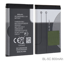3.7V 800mAh BL-5C Rechargeable Battery For Nokia Mobile Phone BL5C BL 5C