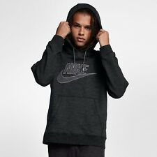 NIKE SPORTSWEAR LEGACY PULLOVER HOODIE BLACK HEATHER 863668-032 MEN'S LARGE