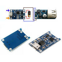 1pcs Micro USB 5V 1A 18650 Lithium Battery Charger Board Module+Protection