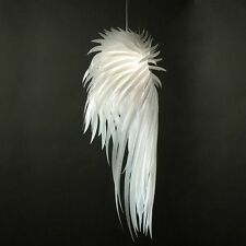 HOT Modern White Feather Wing Ceiling Light Pendant Lamp Chandelier Fixture