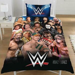 WWE WRESTLING WWF Legends SINGLE DUVET COVER KIDS BEDROOM POLY COTTON BEDDING