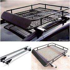 Lockable Aluminium 90kg Roof Rail Bars & Car Rack Tray for VW Golf Variant 94-07