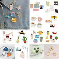 3/4/5/6/7/8 pcs/set Girls Fun Cute Collar Pins Corsage Badge Cartoon Brooch Pin