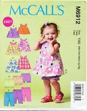 MCCALL'S SEWING PATTERN 6912 BABY NB-XL REVERSIBLE BACK WRAP DRESS, TOP & PANTS