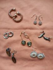 Job Lot Seven Pairs Pierced Earrings Some New All Superb Condition
