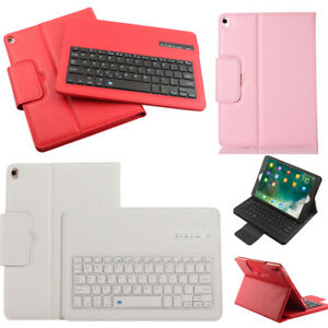 For Apple iPad 7th 8th Generation Wireless Bluetooth Keyboard Leather Case Cover