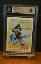 Mike Eruzione Auto 1983 Topps Greatest Olympic Team Gold Medal Beckett Authentic