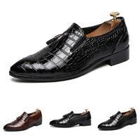 Mens Tassels Pointy Toe Work Slip on Casual Dress Formal Leather Shoes Nightclub