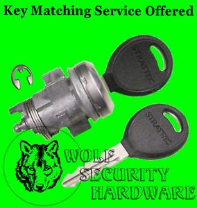 Chrysler Dodge Jeep Single Door Lock Cylinder Chrome Assembled With 2 Keys