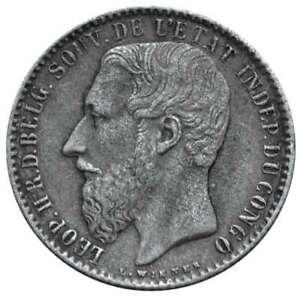 CONGO FREE STATE 1 Franc 1891 XF Leopold II
