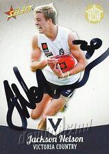 ✺Signed✺ 2013 WEST COAST EAGLES AFL Card JACKSON NELSON Future Force