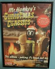 Mr hankey promotional poster RARE with frame South park