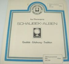 Schaubek DDR Stamp Album Pages Supplement 1989 Pairs German Democratic Republic