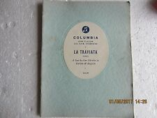 LA TRAVIATA-LIBRETTO IN ENGLISH/ITALIAN-COLUMBIA-1956