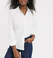 Pieces Women's White Oxford Shirt Size L Large New With Tags