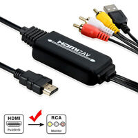 HDMI to 3 RCA AV Video Audio Cable Converter Adapter For HDTV PS4 XBOX DVD PYB