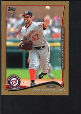 GIO GONZALEZ 2014 TOPPS MINI #523 GOLD PARALLEL NATIONALS SP #26/63
