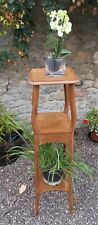 Antique Plant stand, french, polished pitch pine, lamp table,tall display stand