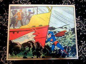 1940s 1940 Superman Gum Card 27 Very Nice Condition With Good Corners and Color