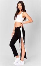 LF carmar black mid rise crop white side zip denim jeans sz 27 $228