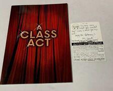 2002 A Class Act Musical Broadway Memorabilia Autographed Postcard David Hibbard
