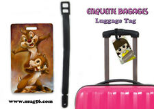 Etiquette bagage / luggage tag - disney - tic et tac chip and dale 01-003