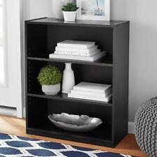 "NEW Mainstays 31"" 3-Shelf Standard Bookcase, Modern Black Oak"