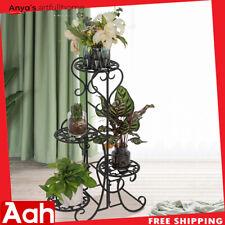 4 Etagen Metallregale Blumentopf Pflanze Ständer Display Indoor Outdoor Garten T...