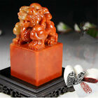 Chinese Shoushan Ancient Beast Carving Seal Sculpture Name Stone Jade DIY Carft