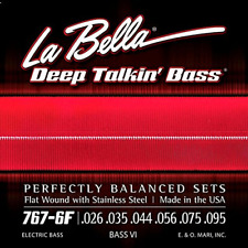 La Bella 7676F Set Bass Dtb Bass Vi Ss Flt Wd 26-95