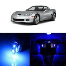 11 x Blue LED Interior Light For 2005 - 2013 Chevy Chevrolet Corvette C6 + TOOL