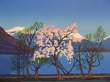 Jarle Rosseland, ''Flowering Fjord'', Linocut, 1983