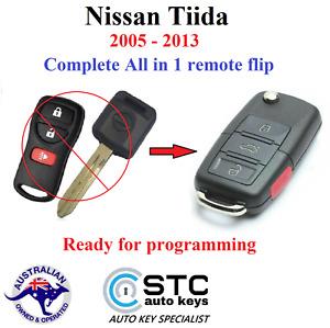 NISSAN TIIDA CAR REMOTE FLIP KEY 2005 2006 2007 2008 2009 2010 2011 2012 2013