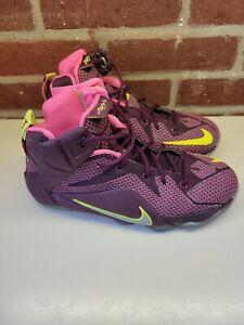 Nike Lebron XII 12 Double Helix Merlot Pink Sz 6.5 Y Basketball 684593-607 James