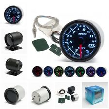 "2""/52mm 7 Color LED Car Exhaust Gas Temp Gauge Ext Temp Meter EGT With Sensor"