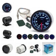 "2""/52mm 7 Color LED Car Exhaust Gas Temp Gauge Ext Temp Meter EGT With Sensor"