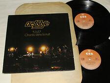 OCTOBRE Live Chants Dans La Nuit 2-LP SET Double Live Album Quebec Canada Prog